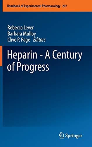 9783642230554: Heparin - A Century of Progress (Handbook of Experimental Pharmacology)