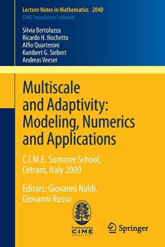 Multiscale and Adaptivity: Modeling, Numerics and Applications - Silvia Bertoluzza