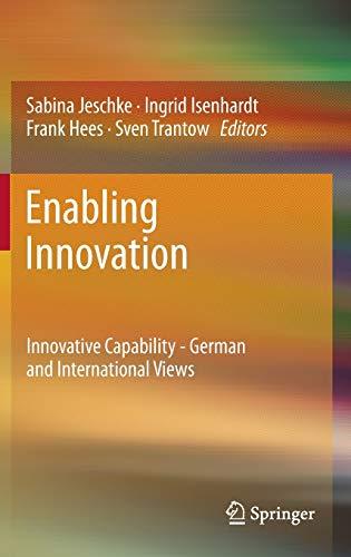 9783642245022: Enabling Innovation: Innovative Capability - German and International Views