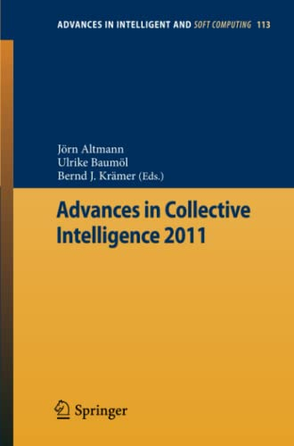 Advances in Collective Intelligence 2011: Jörn Altmann