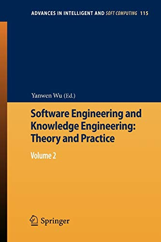 9783642253485: Software Engineering and Knowledge Engineering: Theory and Practice: Volume 2 (Advances in Intelligent and Soft Computing)