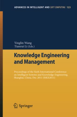 Knowledge Engineering and Management: Yinglin Wang