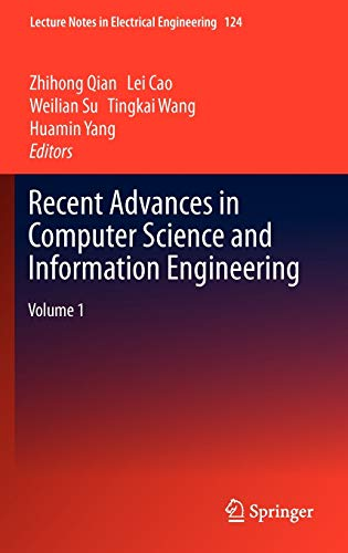 9783642257803: Recent Advances in Computer Science and Information Engineering: Volume 1 (Lecture Notes in Electrical Engineering)