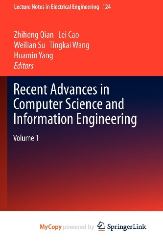 9783642257827: Recent Advances in Computer Science and Information Engineering: Volume 1