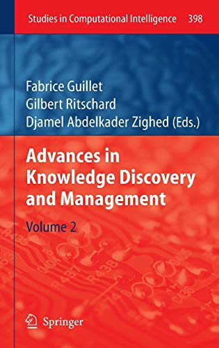 9783642258374: Advances in Knowledge Discovery and Management: Volume 2 (Studies in Computational Intelligence)