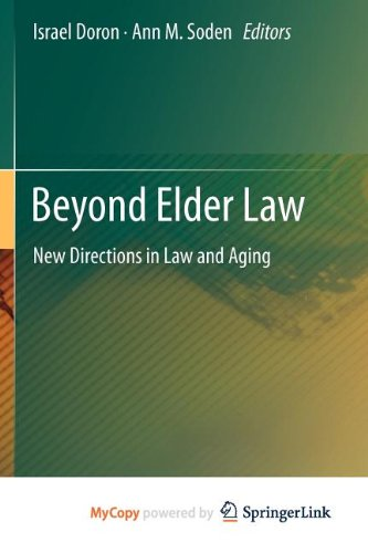 9783642259739: Beyond Elder Law: New Directions in Law and Aging