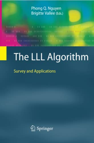 9783642261640: The LLL Algorithm: Survey and Applications (Information Security and Cryptography)