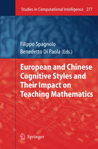9783642263194: European and Chinese Cognitive Styles and their Impact on Teaching Mathematics (Studies in Computational Intelligence)