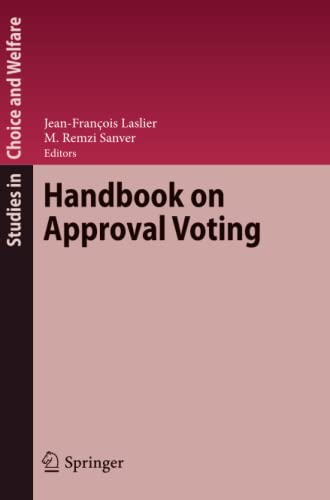 9783642264139: Handbook on Approval Voting (Studies in Choice and Welfare)