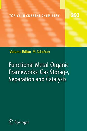 9783642264887: Functional Metal-Organic Frameworks: Gas Storage, Separation and Catalysis (Topics in Current Chemistry)