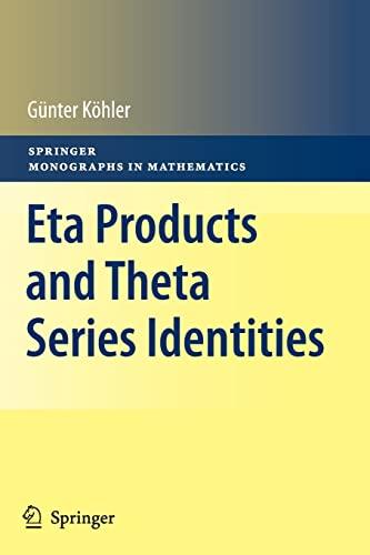9783642266294: Eta Products and Theta Series Identities (Springer Monographs in Mathematics)
