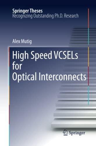 9783642266799: High Speed VCSELs for Optical Interconnects (Springer Theses)