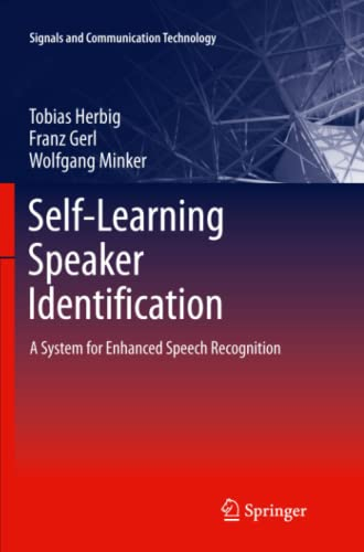 9783642268809: Self-Learning Speaker Identification: A System for Enhanced Speech Recognition (Signals and Communication Technology)