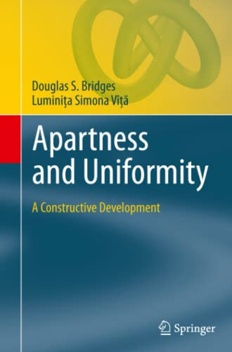 9783642269967: Apartness and Uniformity: A Constructive Development (Theory and Applications of Computability)
