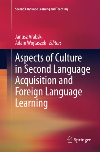 9783642271175: Aspects of Culture in Second Language Acquisition and Foreign Language Learning (Second Language Learning and Teaching)