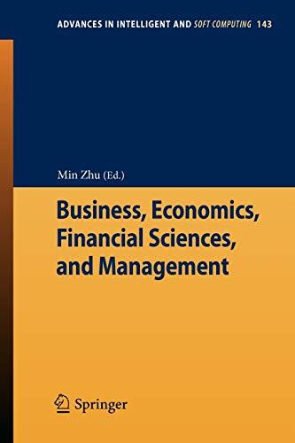 Business, Economics, Financial Sciences, and Management: Min Zhu