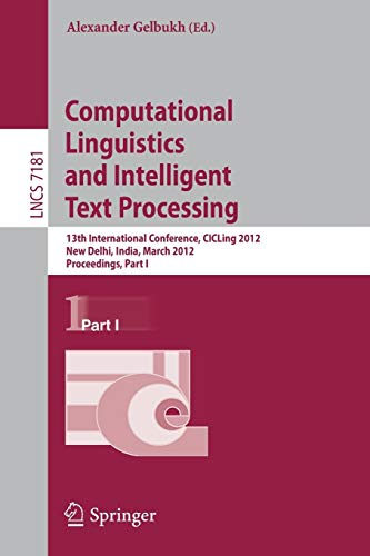 Computational Linguistics and Intelligent Text Processing: 13th International Conference, CICLing ...