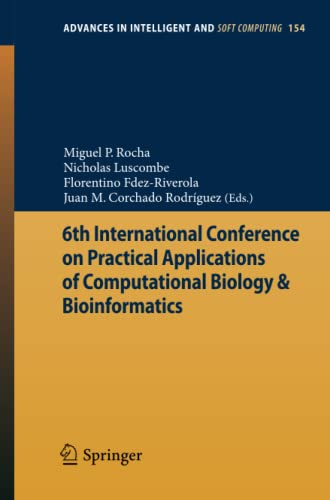 6th International Conference on Practical Applications of Computational Biology & ...
