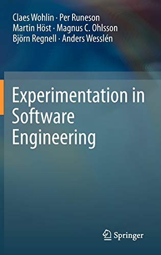 9783642290435: Experimentation in Software Engineering