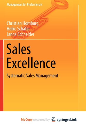 9783642291708: Sales Excellence: Systematic Sales Management