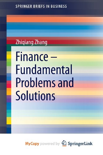 9783642305139: Finance - Fundamental Problems and Solutions