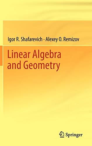 9783642309939: Linear Algebra and Geometry