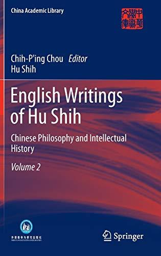 9783642311802: English Writings of Hu Shih