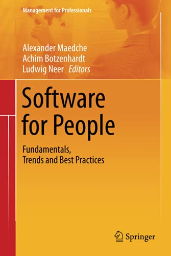9783642313707: Software for People: Fundamentals, Trends and Best Practices (Management for Professionals)