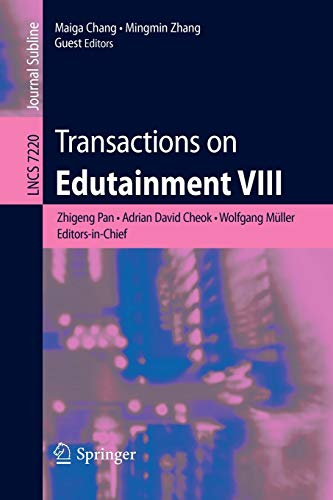 9783642314384: Transactions on Edutainment VIII (Lecture Notes in Computer Science)