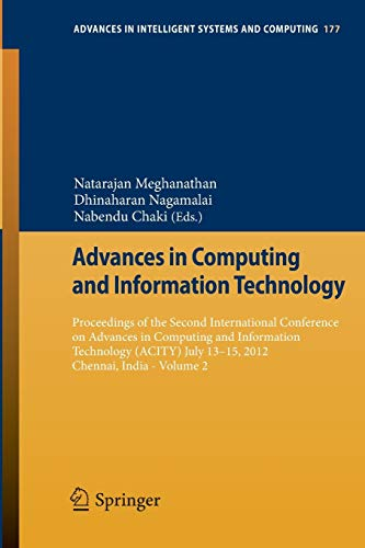 Advances in Computing and Information Technology: Natarajan Meghanathan