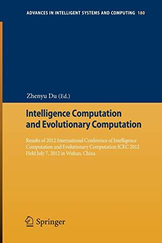 Intelligence Computation and Evolutionary Computation: Zhenyu Du