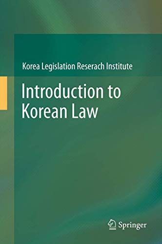 9783642316883: Introduction to Korean Law