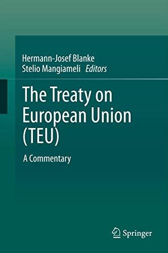 Treaty on European Union (TEU) (Hardcover): Herm Josef Blanke