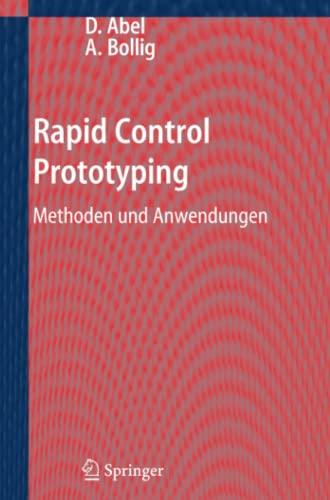 9783642319440: Rapid Control Prototyping: Methoden und Anwendungen