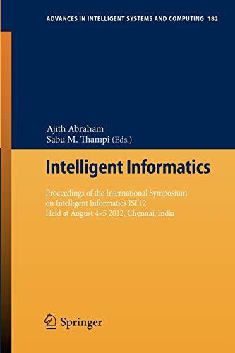 Intelligent Informatics: Ajith Abraham