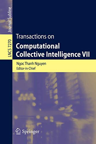 Transactions on Computational Collective Intelligence VII (Lecture