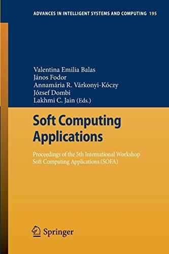 Soft Computing Applications: Proceedings of the 5th: Valentina Emilia Balas