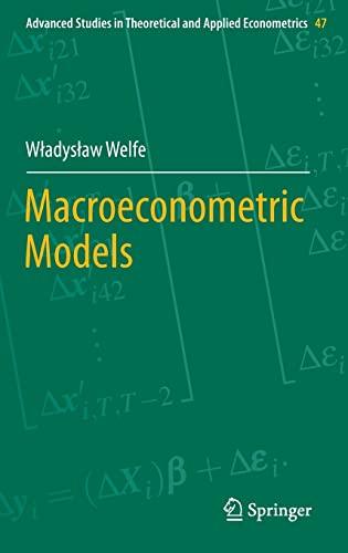 9783642344671: Macroeconometric Models (Advanced Studies in Theoretical and Applied Econometrics)