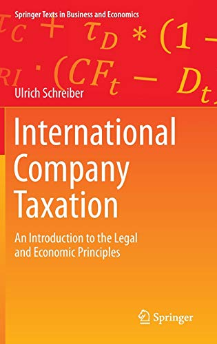 International Company Taxation: An Introduction to the: Schreiber, Ulrich