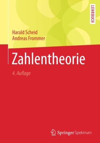 9783642368356: Zahlentheorie (German Edition)