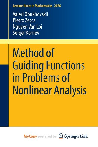 9783642370717: Method of Guiding Functions in Problems of Nonlinear Analysis