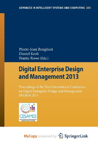 9783642373183: Digital Enterprise Design and Management 2013: Proceedings of the First International Conference on Digital Enterprise Design and Management DED&M 2013