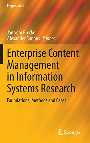 9783642397141: Enterprise Content Management in Information Systems Research: Foundations, Methods and Cases (Progress in IS)