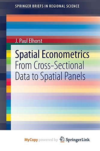 9783642403415: Spatial Econometrics: From Cross-Sectional Data to Spatial Panels