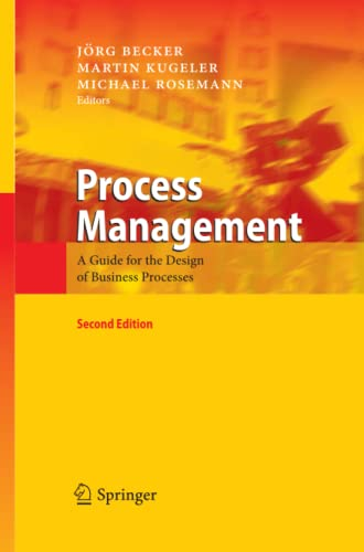 9783642423178: Process Management: A Guide for the Design of Business Processes
