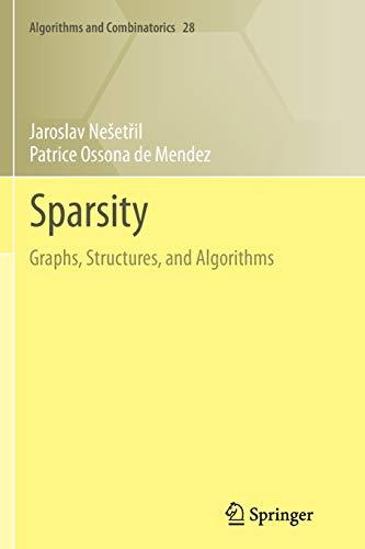 9783642427763: Sparsity (Algorithms and Combinatorics)