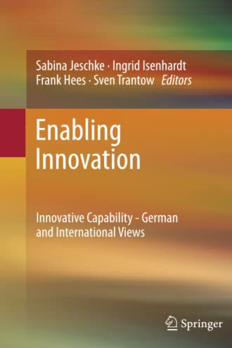 9783642429965: Enabling Innovation: Innovative Capability - German and International Views