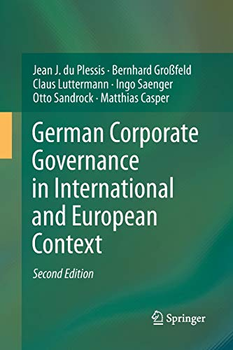 9783642432125: German Corporate Governance in International and European Context
