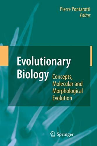 9783642433818: Evolutionary Biology - Concepts, Molecular and Morphological Evolution