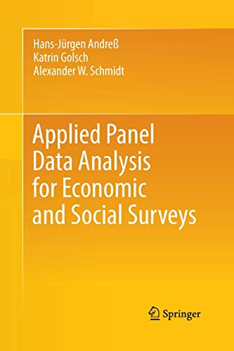 9783642434174: Applied Panel Data Analysis for Economic and Social Surveys